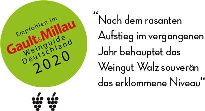 Gault Millau 2020 Weingut Josef Walz Heitersheim