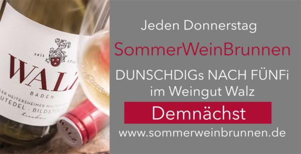 Sommerweinbrunnen Weingut Josef Walz Heitersheim